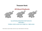 4th grade Multiplication Treasure Hunt All About Elephants