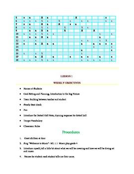 4th grade Music Lesson Plans/Bundle