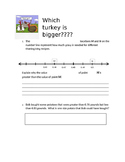 4th grade NF.3.7 Thanksgiving comparing decimals NF.C.7