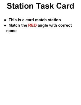 4th grade Name the Angle