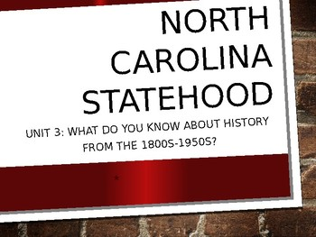 4th grade North Carolina Social Studies Unit 3