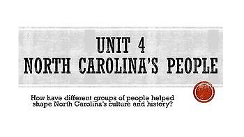 4th grade North Carolina Social Studies Unit 4