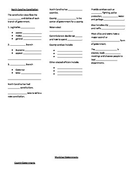 4th grade North Carolina Social Studies Unit 5 Lesson 3 Gr