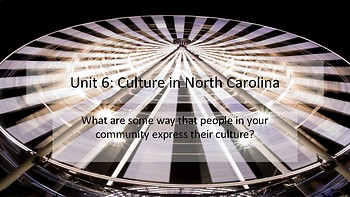 4th grade North Carolina Social Studies Unit 6