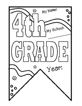4th grade Pennant Banner for Back to School