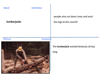 4th grade Reading Street Paul Bunyan U3W5 vocab powerpoint