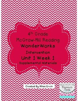 4th grade Reading WonderWorks Supplement- Unit 1 Week 1