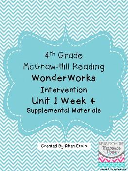 4th grade Reading WonderWorks Supplement- Unit 1 Week 4
