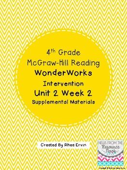 4th grade Reading WonderWorks Supplement- Unit 2 Week 2