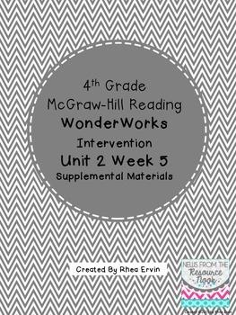 4th grade Reading WonderWorks Supplement- Unit 2 Week 5