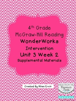 4th grade Reading WonderWorks Supplement- Unit 3 Week 2