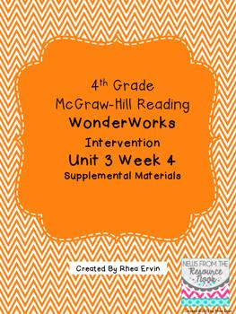 4th grade Reading WonderWorks Supplement- Unit 3 Week 4