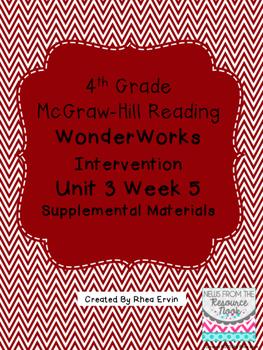 4th grade Reading WonderWorks Supplement- Unit 3 Week 5