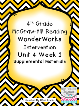 4th grade Reading WonderWorks Supplement- Unit 4 Week 1