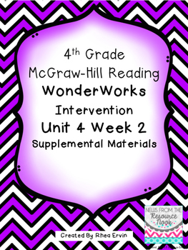 4th grade Reading WonderWorks Supplement- Unit 4 Week 2
