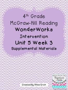 4th grade Reading WonderWorks Supplement- Unit 5 Week 3