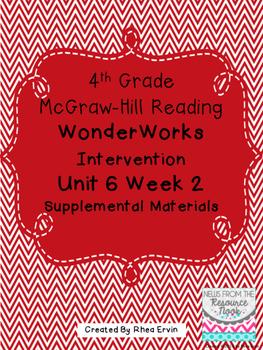 4th grade Reading WonderWorks Supplement- Unit 6 Week 2