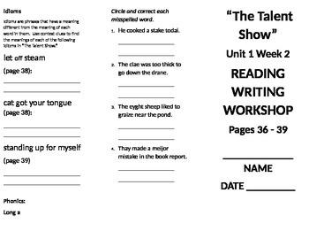 4th grade Reading Wonders Unit 1 week 2