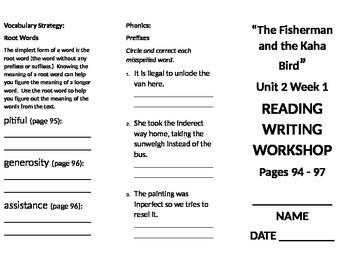 4th grade Reading Wonders Unit 2 Week 1
