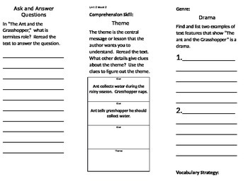 4th grade Reading Wonders Unit 2 bundle