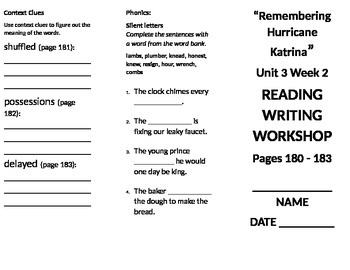 4th grade Reading Wonders Unit 3 week 2