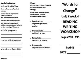 4th grade Reading Wonders Unit 3 week 4