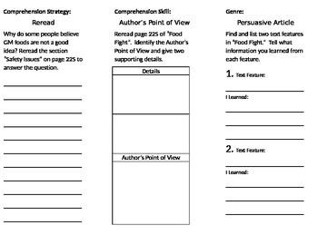 4th grade Reading Wonders Unit 3 week 5
