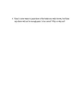 4th grade SBAC Math Performance Task: Painting