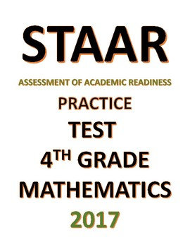 4th grade STAAR Math Practice Test 2017 Simulation