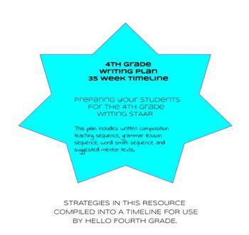 4th grade STAAR Writing Plan 35 week timeline