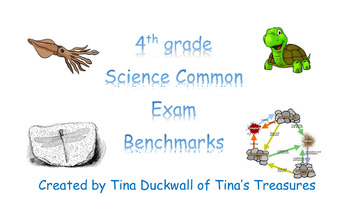 4th grade Science Common Exam Benchmark Questions