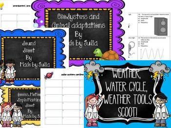 4th grade Science and Social Studies Scoot Bundle- Great for GA Milestone!