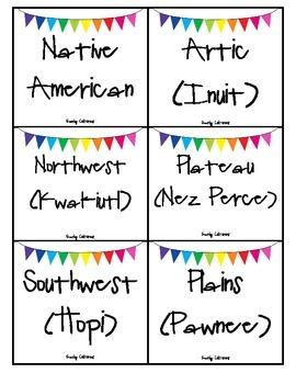 4th grade Social Studies word wall words