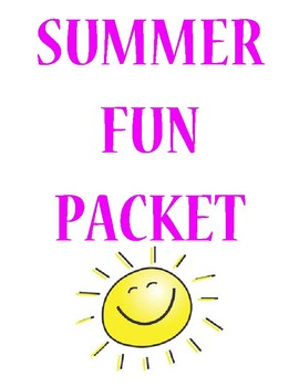 4th grade End of Year/ Summer Fun Packet