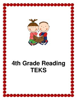 4th Grade ELAR TEKS with I Can Statements