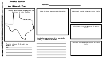 4th grade TEXAS TRIBES Social Studies in Spanish