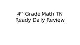 4th grade TN Ready Daily Review
