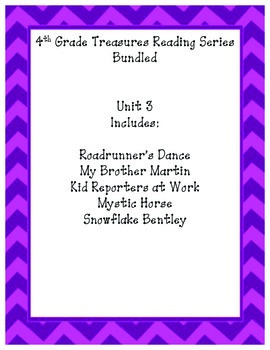 4th grade Treasures Reading Bundled-Unit 3