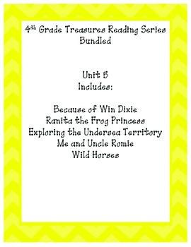 4th grade Treasures Reading Bundled-Unit 5