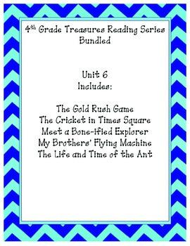 4th grade Treasures Reading Bundled-Unit 6