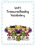 4th grade Treasures Reading Series Unit 1 Vocabulary Match Up