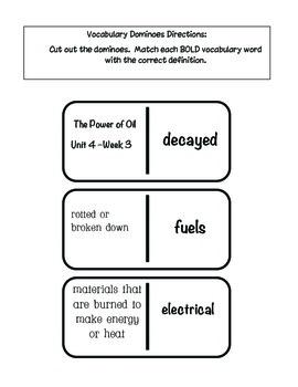 "4th grade Treasures Reading Unit 4 Week 3 ""Power of Oil"""