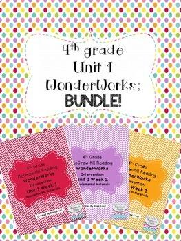 4th grade Unit 1 WonderWorks- BUNDLE!
