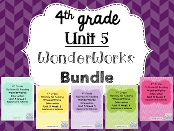 4th grade Unit 5 WonderWorks- BUNDLE!