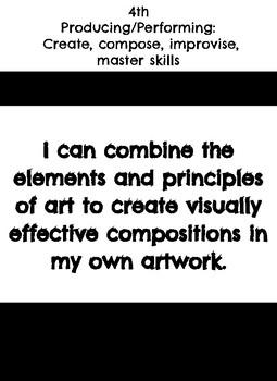 "4th grade: Visual Art- ""I Can"" Statements"