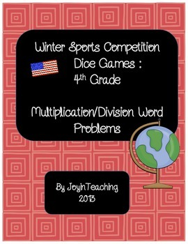 4th grade: Winter Sports Dice Games: Multiplication Divisi