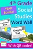 4th Grade Word Wall BUNDLE {300 words with QR codes and de