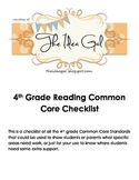 4th grade Writing Common Core Standards checklist