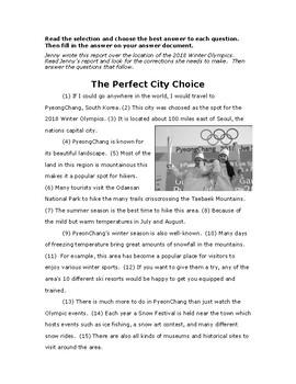 4th grade Writing Test Prep - passage 3