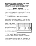 4th grade Writing Test Prep - passage 7